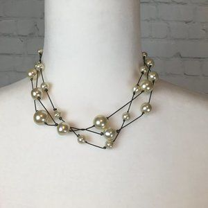The Limited Faux Pearl Fashion Collar Necklace
